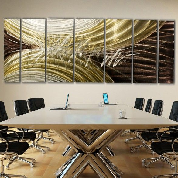 Modern metal hand painted abstract wall art sculpture extra large perception of energy