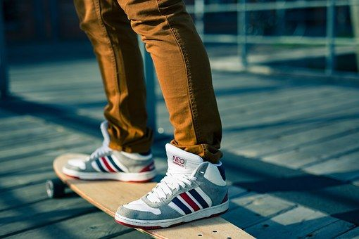 Skateboards, Sports Shoes