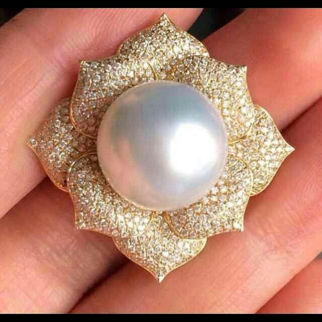 Flower Pearl Jewellery Ring #ilovedesign #instajewels #jewelryaddict #ring