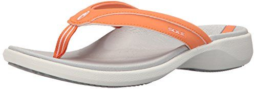 SOLE Women's Sport Flip Athletic Sandal, Coral, 6 M US * Check this awesome product by going to the link at the image.