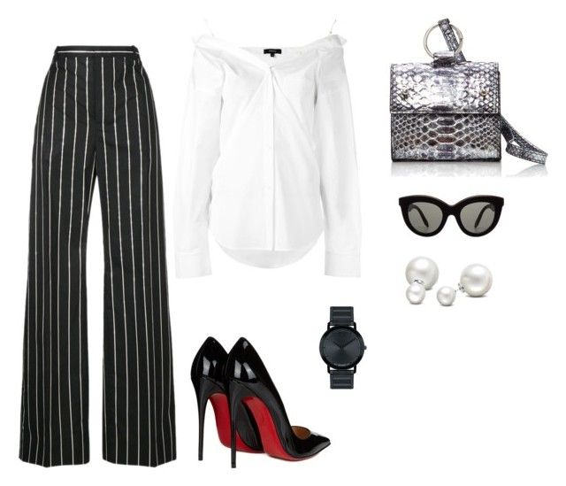 """Mondays at the office"" by trend-anonymous on Polyvore featuring Balenciaga, Theory, Hayward, Victoria Beckham, Allurez, Christian Louboutin, Movado, polyvoreeditorial and officeOutfit"