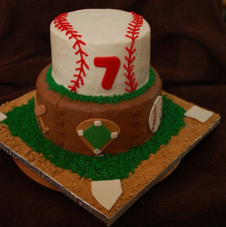base ball cake idea | tier baseball cake. Inspiration from similiar cakes on CC. Thanks ...