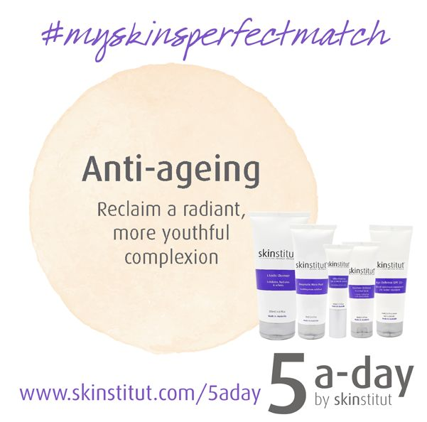 Win a Skinstitut Anti-ageing pack valued at $225 to help kick off our 5 a-day launch. Go to http://www.skinstitut.com/5aday to complete your 5 a-day consultation. Comment on our Facebook post https://www.facebook.com/pages/Skinstitut-Australia-Pty-Ltd/198359040193807 telling us what 5 products were suggested as your skin's perfect match to be in the running.