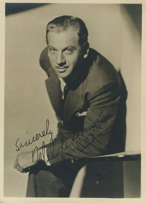 Melvyn Douglas 1930s 5x7 Fan Photo - Click to shop Fan Photos in the Immortal Ephemera Store