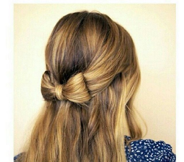 Cute hair bow hairstyle everything pinterest