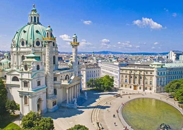 Karlsplatz or Charles' Square is found in Vienna, capital of Austria. It is one of the most frequented and best connected transportation hubs in Vienna.  Karlskirche (Saint Charles Church) is also located here. #trivo