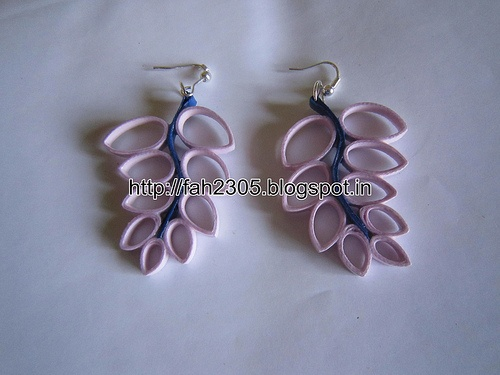 Handmade Jewelry - Paper Quilling Fern  Earrings (Free Form Quilling) (1)