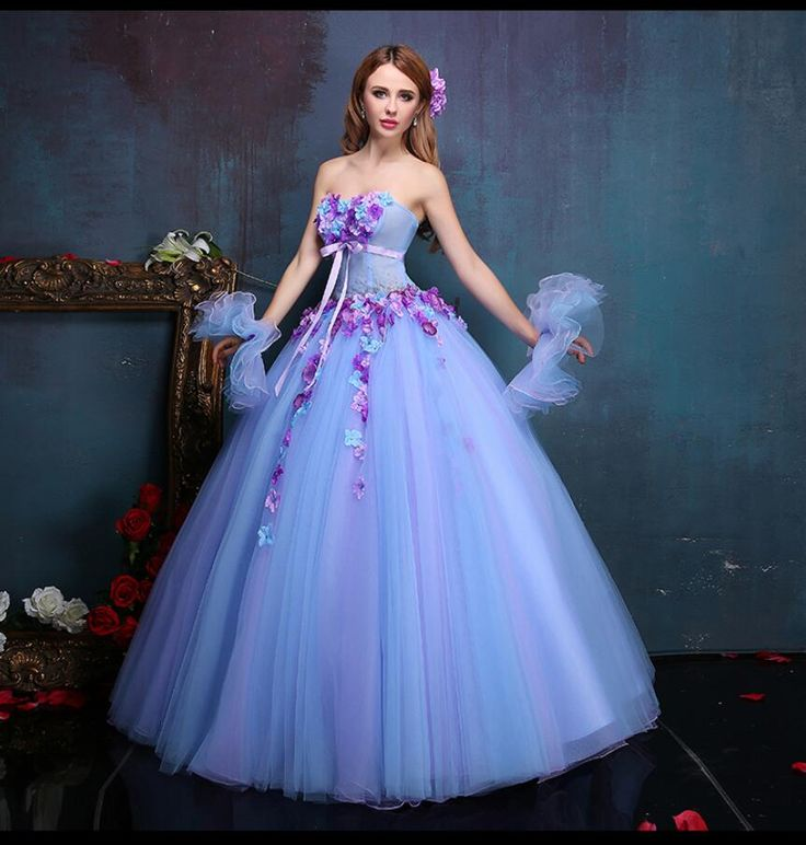 Aliexpress.com : Buy Custom Made Blue and Pink Ball Gown ...