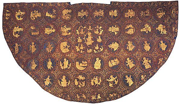 The Great Mantle of St. Kunigunde (wife of Heinrich II), was made in Southern Germany in the early 11th Century.