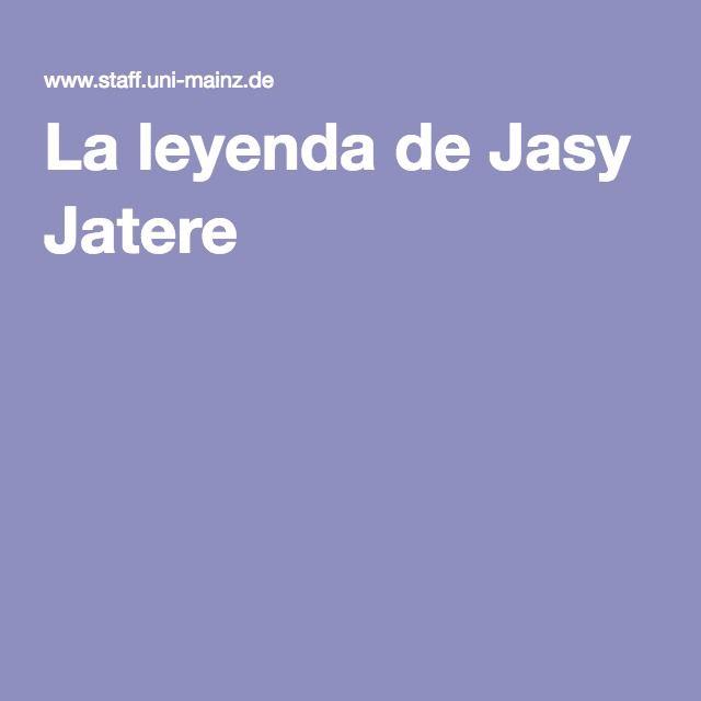 La leyenda de Jasy Jatere