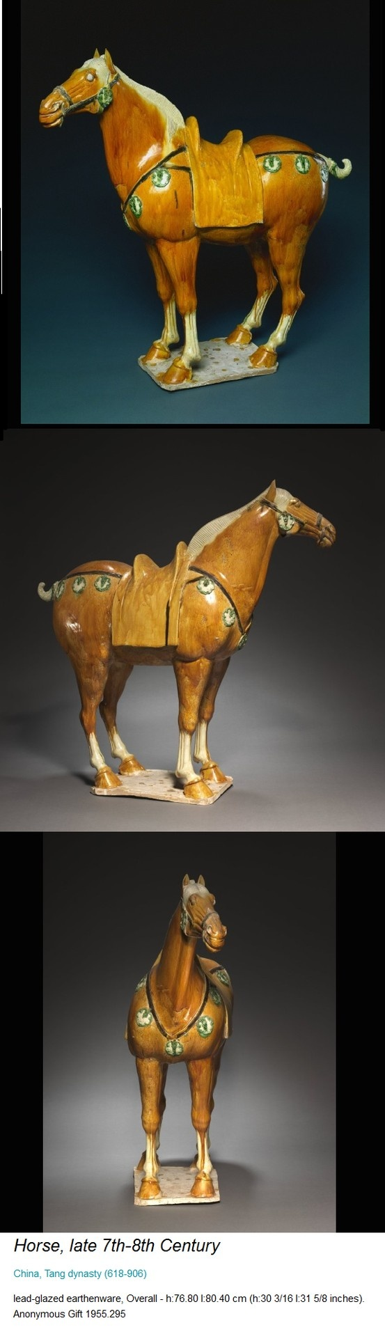From the Cleveland Museum of Art - Tang Dynasty Horse