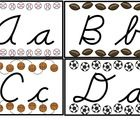 These Modern Cursive letters will be a perfect addition to your sports themed classroom as headers for your word wall or as an alphabet line....