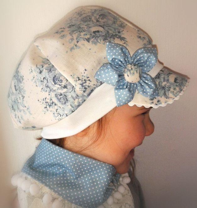 Ballonmütze 100% Baumwolle,Tilda Stoff Das Schild vorne schützt gegen Sonneneinstrahlung.