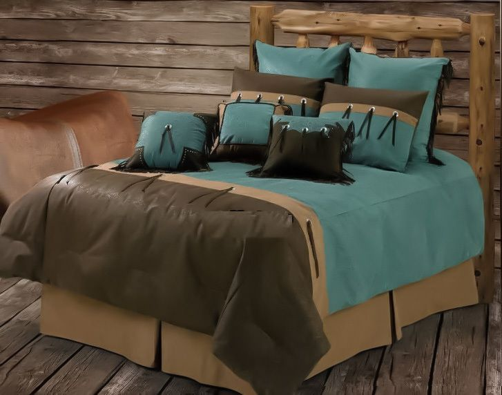 new western rustic san juan turquoise comforter bedroom bedding 5pc set queen turquoise and. Black Bedroom Furniture Sets. Home Design Ideas