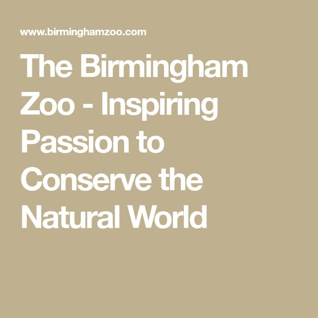 The Birmingham Zoo - Inspiring Passion to Conserve the Natural World
