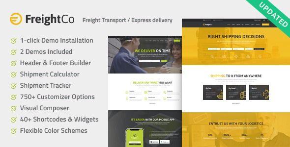 Freightco Transportation Warehousing Wordpress Theme