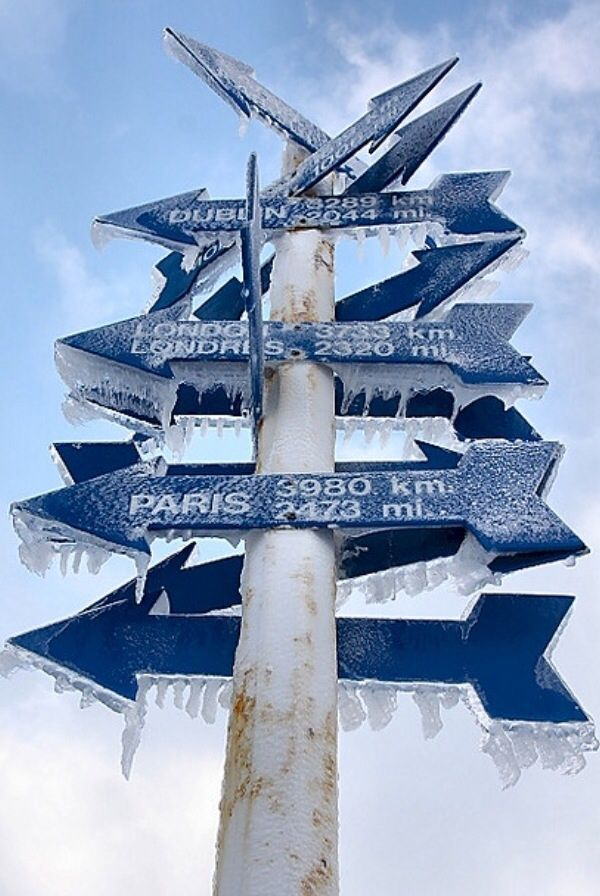 St. John's, Newfoundland, Canada.  Signpost by Cabot Tower on Signal Hill.