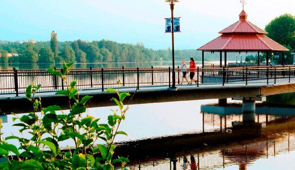 La Promenade du Lac des Nations, un endroit prisé des Sherbrookois. On s'y donne rendez-vous pour une marche ou une course !