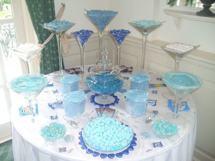 Blue Candy Buffet From Sweets For My Sweet