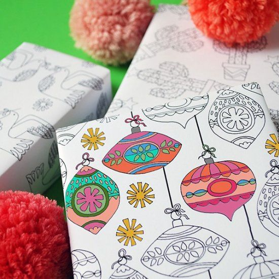 Lovely colouring? You'll love our free printable colouring Christmas wrapping paper, with matching gift tags, in 8 exclusive designs.: