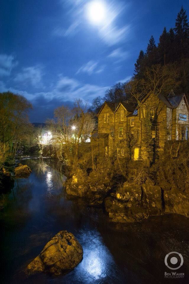 Betws Y Coed in the area of Snowdonia National Park, North Wales, UK