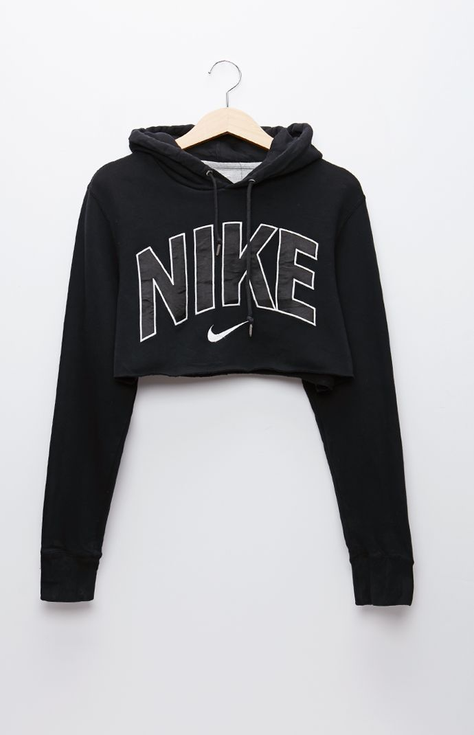 Retro Gold Nike Black Pullover Hoodie - Womens Hoodie - Black - One $39.95