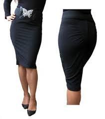 Resultado de imagen para faldas tipo lapiz