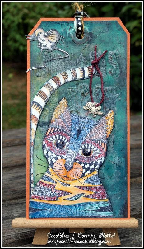 Un tag chat en remerciements / Rubberdance CAT TAG - Les folies de Coco...