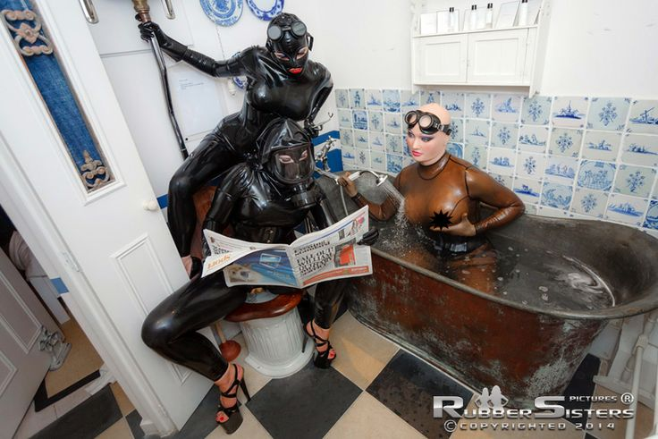Full rubber mistress gets worshiped and than hard fucked by her latex slave - 3 2