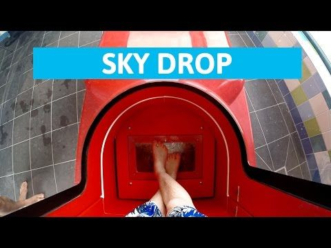This water slide starts with a terrifying drop and a lot of SCREAMING! - YouTube