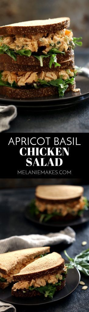 Dried apricots and fresh basil, add bright, warm weather flavors that would make this Apricot Basil Chicken Salad stand out in any picnic lineup. A dash of smoked paprika and the crunch of sliced almonds continue to elevate it's flavor game.
