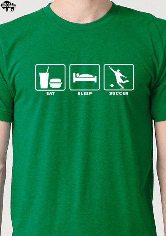 "Soccer party favor - t-shirt ""Eat. Sleep. Soccer."""