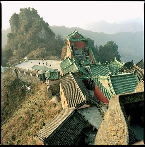 Tianzhufeng (Golden Hall, 1416 CE) at the peak of Mt Wudong, China
