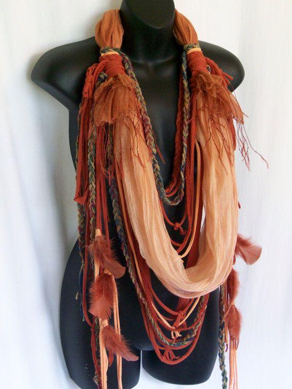 hippie scarf festival clothing burning man hippie boho by LamaLuz
