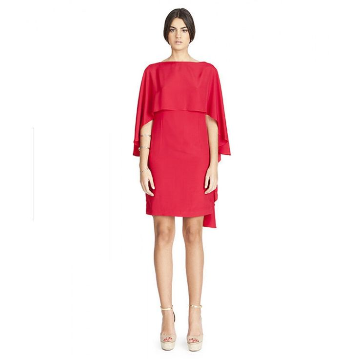 Vestido rojo con solapa