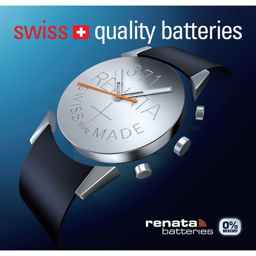 Renata Batteries is a worldwide leading producer of button cells for electronic applications. They produce a wide range of products such as silver oxide batteries for wristwatches, zinc air batteries for hearing aids, but also lithium-3V-button-cells for the consumer and industrial industries and for telecommunication, medical and PCs use.