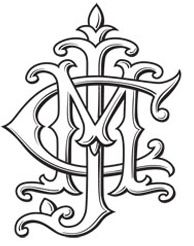 this unknown monogram i believe is from the victorian era. what i like about it, is it looks like it came from a royal dynasty