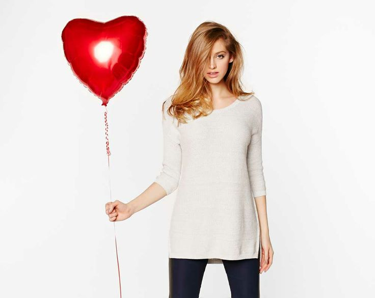 Get cozy yet glamorous in this soft tunic! Don't forget to add some red lipstick ;)