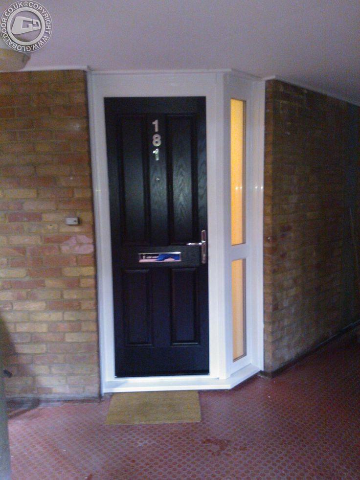 black-4-panel-global-composite-door & Best 25+ Black composite door ideas on Pinterest | Black composite ... pezcame.com