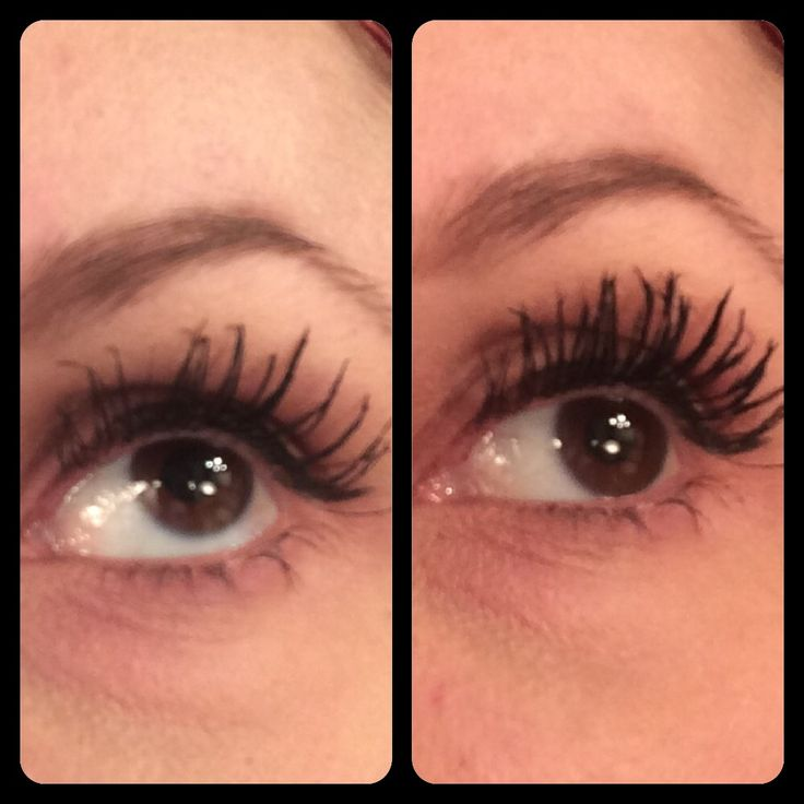 Cherry Bloom eyelash fibers. Brush on eyelash extensions. Before and after pics. Love!