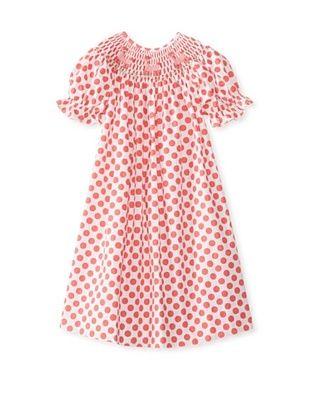 64% OFF Viva La Fete Kid's Smocked Poodle Bishop Dress (Coral)