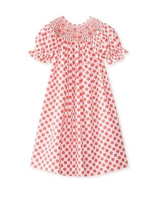 72% OFF Vive La Fete Kid's Smocked Poodle Bishop Dress (Coral)