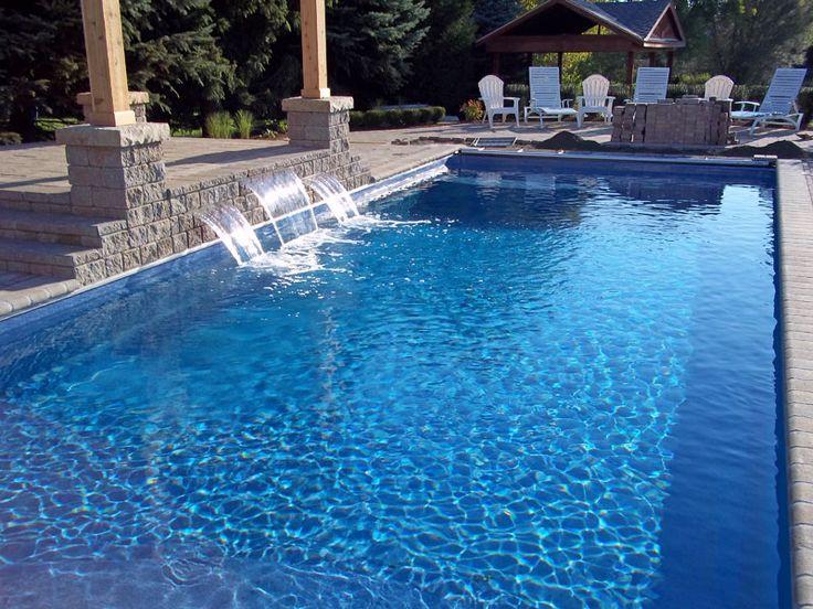 rectangular pools inground | Barcelona Large Fiberglass Inground Viking Swimming Pool