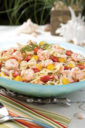 Shrimp and Pasta Salad with Lemon Dill Vinaigrette