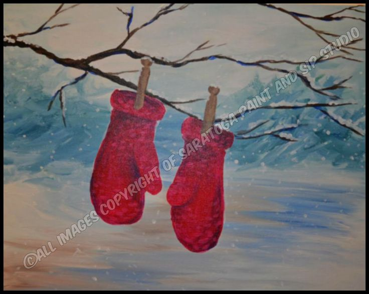 COZY MITTENS At Saratoga Paint U0026 Sip Studio. Christmas PaintingsChristmas  ArtChristmas ...