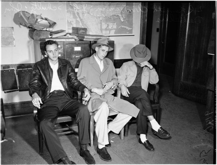 Robbery suspects, 1951 :: Los Angeles Examiner Collection, 1920-1961