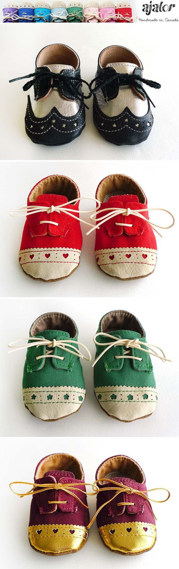 Handmade baby shoes from Ajalor.  Perfect gift for a baby shower!  #babyshoes