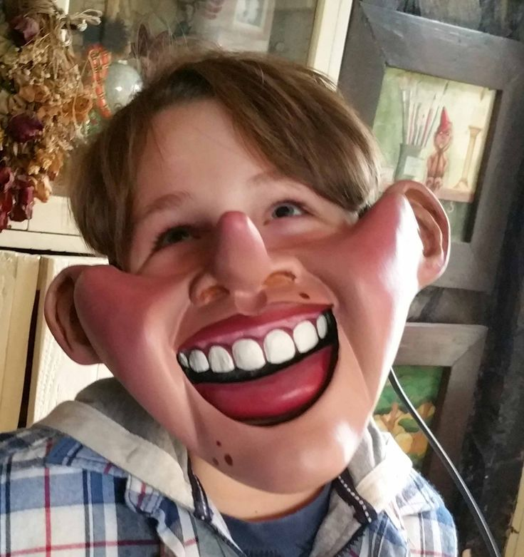 Pinocchio Cable Controlled Ventriloquist Mask