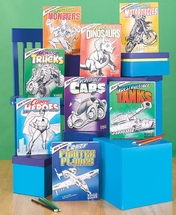Boys How to Draw Books Set of 8 Learn to Draw Monster Trucks, Comic Heros & more