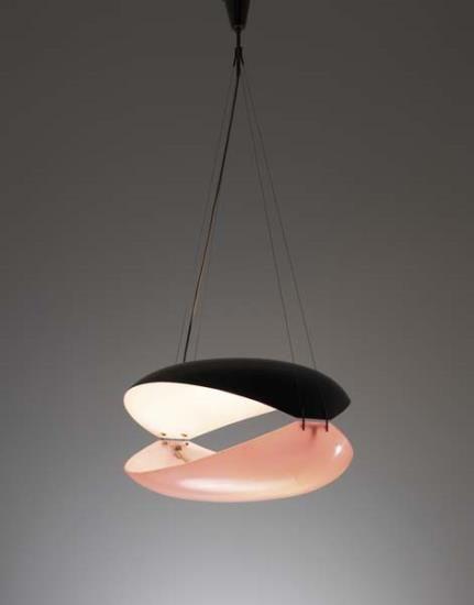 Ettore Sottsass Hanging Light Arredoluce Italy C 1957